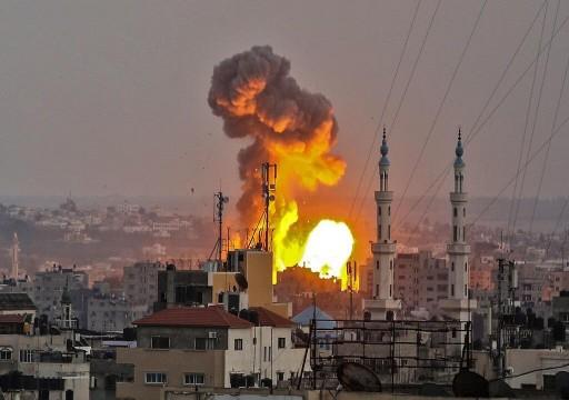 مقاتلات الاحتلال تقصف مواقع المقاومة شمال قطاع غزة