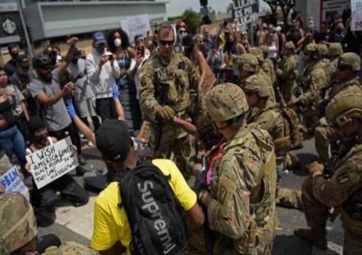 إصابة عناصر من الحرس الوطني الأمريكي بوباء كوفيد-19 إثر المظاهرات