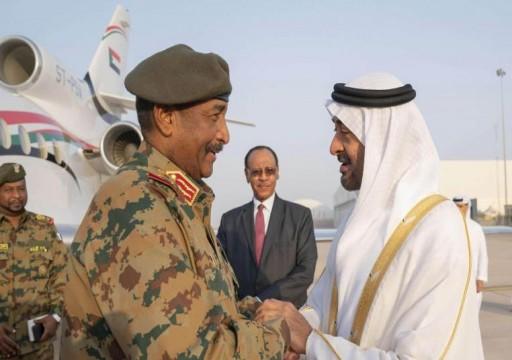 محمد بن زايد يبحث مع حمدوك والبرهان العلاقات الثنائية