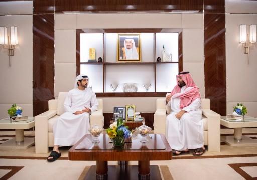 ولي عهد دبي يلتقي بن سلمان في جدة