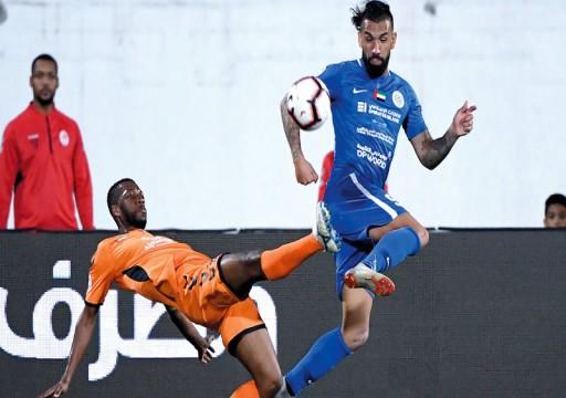 النصر يفتقد مهند خميس أمام عجمان بسبب الإيقاف