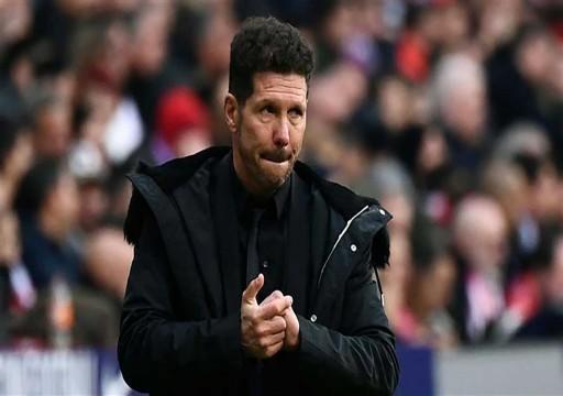 مدرب أتلتيكو مدريد الإسباني مصاب بكورونا