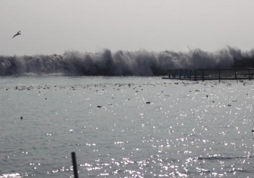 وفاة شخص جرفته أمواج كيار بدبا الفجيرة