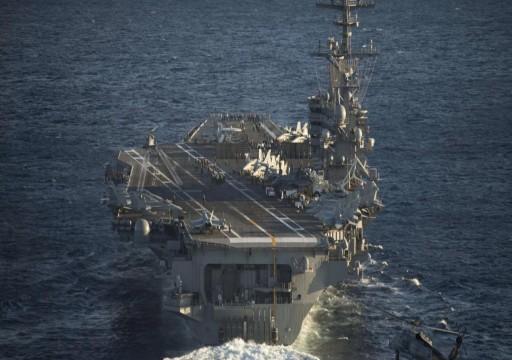 تحطّم مروحية أمريكية على متن حاملة طائرات نووية