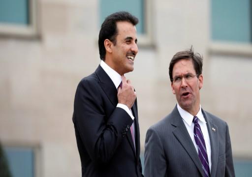 البنتاغون يدعو أمير قطر لحشد الجهود ومنع الاستفزازات في الخليج