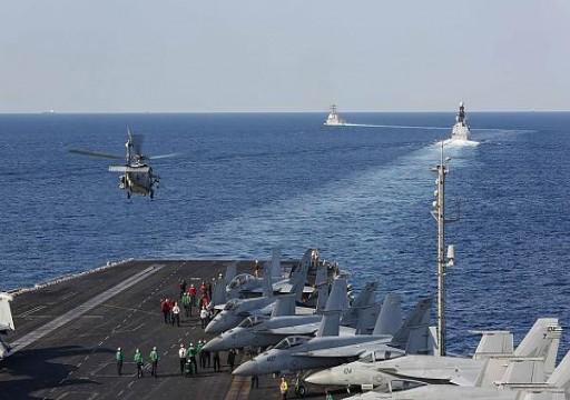 مناورات عسكرية أمريكية فرنسية في مياه الخليج