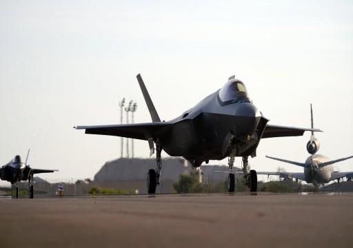 """مقاتلات """"إف-35"""" الأمريكية تعود إلى قاعدة الظفرة"""