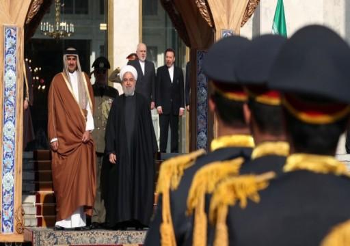 أمير قطر من إيران يدعو للتهدئة وخفض التصعيد بالمنطقة