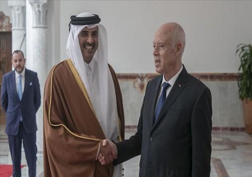 أمير قطر ورئيس تونس يبحثان التعاون المشترك ومسائل عربية ودولية
