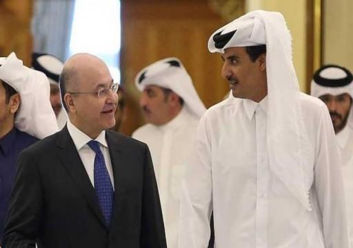 أمير قطر والرئيس العراقي يبحثان هاتفيا خفض التوتر والتصعيد في المنطقة