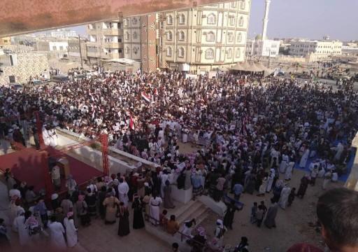 احتجاجات تطالب برحيل القوات السعودية والإماراتية من المهرة شرقي اليمن