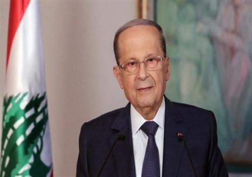 """محمد بن راشد يوجه دعوة إلى الرئيس اللبناني لزيارة """"إكسبو دبي"""""""