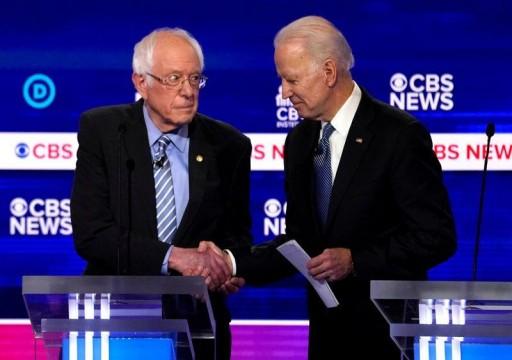 بايدن يحذر من معركة حمام دم مع ساندرز قبل جولة الانتخابات