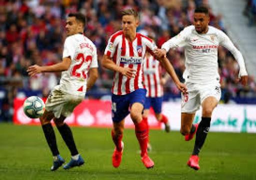 أتليتيكو مدريد وأشبيلية يكتفيان بالتعادل 2-2 في الدوري الإسباني