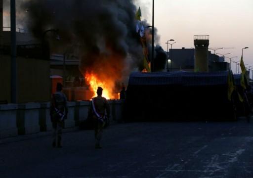 انسحاب تدريجي للمحتجين العراقيين من محيط السفارة الأمريكية في بغداد