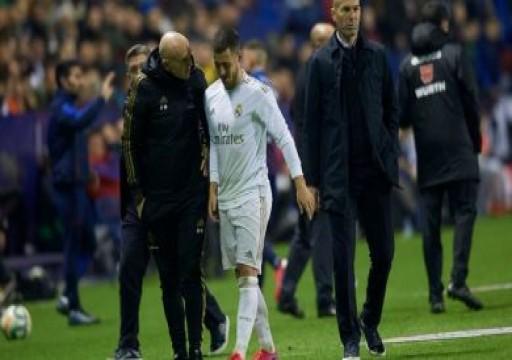 ريال مدريد يعلن إصابة هازارد بكسر في الكاحل الأيمن