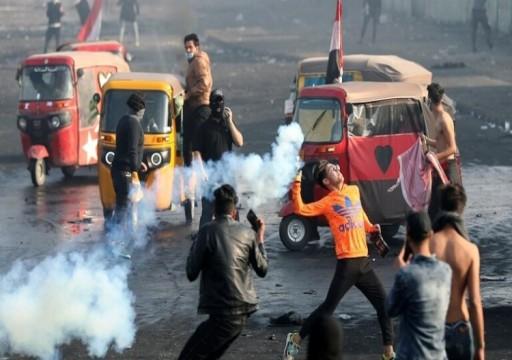 العراق.. مقتل محتجين اثنين وإصابة 25 في اشتباكات مع الشرطة في بغداد