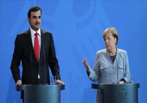 أمير قطر يبحث مع ميركل المستجدات الإقليمية والدولية