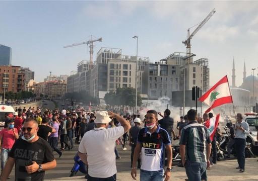 مئات اللبنانيين يستأنفون الاحتجاجات المناهضة للحكومة