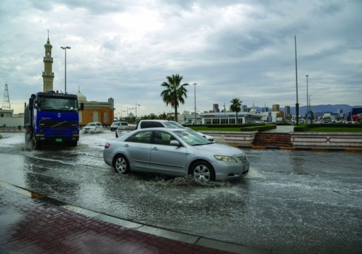 سقوط أمطار رعدية غزيرة على معظم مناطق الدولة