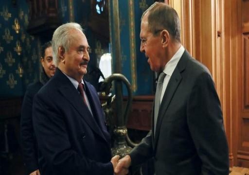 لافروف: حفتر مستعد لتوقيع اتفاق وقف إطلاق نار في ليبيا