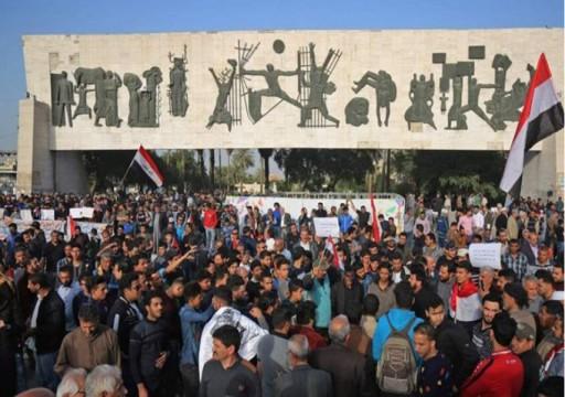 العراق.. مقتل 5 متظاهرين إثر إطلاق نار بساحة الوثبة وسط بغداد