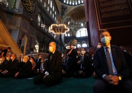 نيويورك تايمز: بالصلاة في آيا صوفيا.. أردوغان يحقق حلما عزيزا طالما راوده