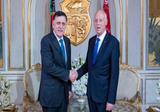 سعيد والسراج يبحثان في تونس قضايا اقتصادية وسياسية مشتركة