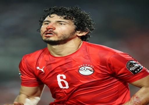 تحديد موقف مشاركة نجم المنتخب المصري بعد إصابته بكسر في الأنف