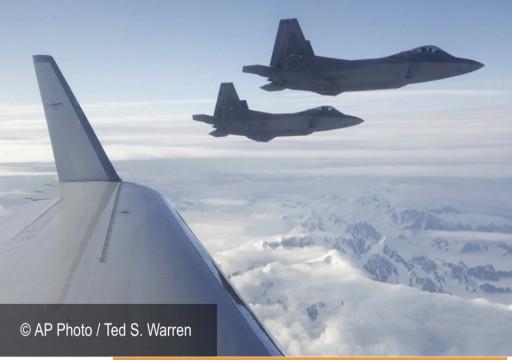 مقاتلتان أمريكيتان تقتربان من طائرة ركاب إيرانية في المجال السوري