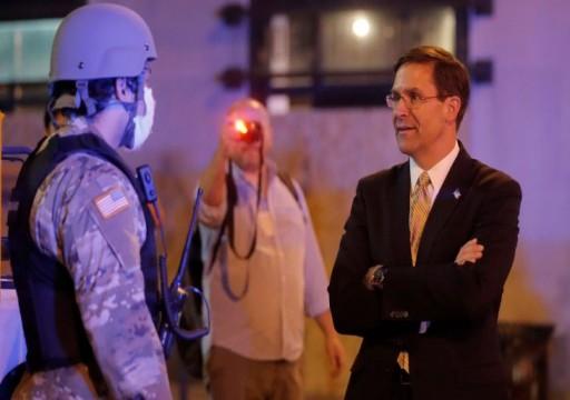 وزير الدفاع الأمريكي يعارض نشر الجيش للسيطرة على الاحتجاجات