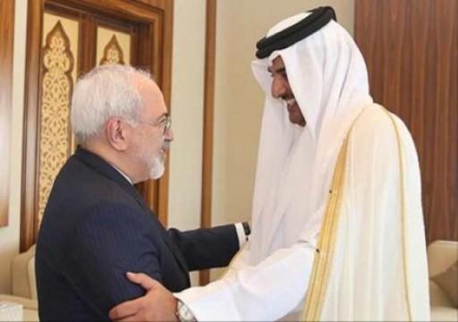 ظريف في قطر.. وتميم يتسلم رسالة من روحاني