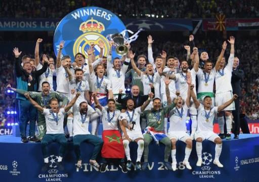 ريال مدريد يتصدر التصنيف التاريخي لدوري أبطال أوروبا