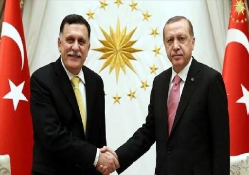 أردوغان يجتمع مع رئيس حكومة الوفاق الليبية في أنقرة