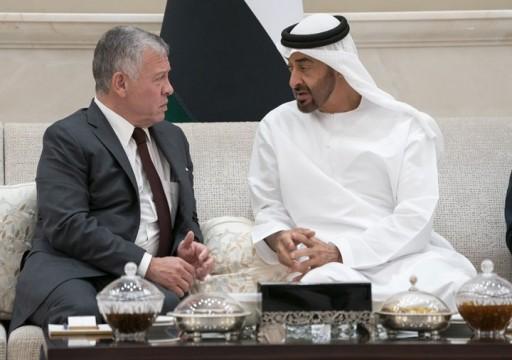 محمد بن زايد يبحث مع العاهل الأردني المستجدات الإقليمية