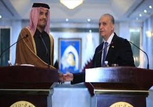 وزير الخارجية القطري يبحث مع نظيره العراقي خفض التصعيد بالمنطقة
