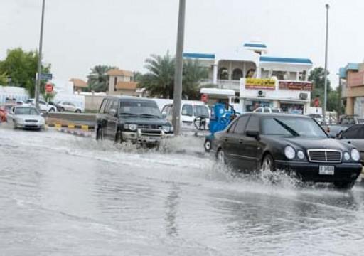 هطول أمطار غزيرة على الفجيرة وعجمان ومناطق أخرى من الدولة