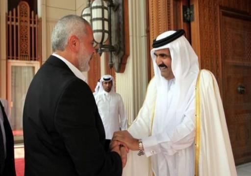 هنية يلتقي حمد بن خليفة آل ثاني في الدوحة