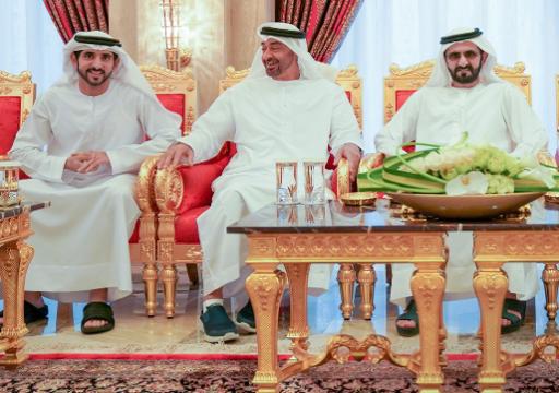 محمد بن راشد يستقبل محمد بن زايد على خلفية التوتر في المنطقة