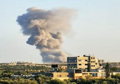 الاحتلال الإسرائيلي يقصف مجددا مواقع المقاومة بقطاع غزة