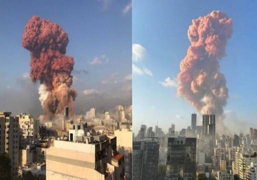 انفجار كبير في منطقة ميناء بيروت يهز العاصمة اللبنانية