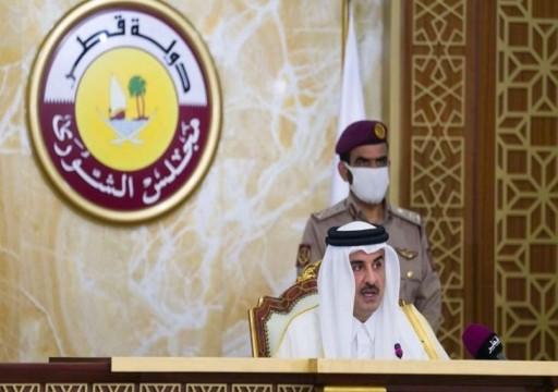 أمير قطر يفتتح أعمال أول دورة لمجلس الشورى المنتخب