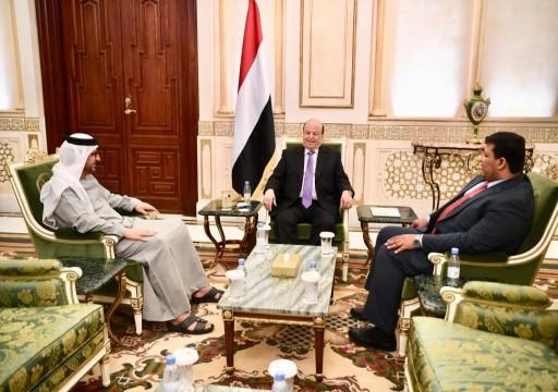 هادي يلتقي سفير الإمارات لدى اليمن