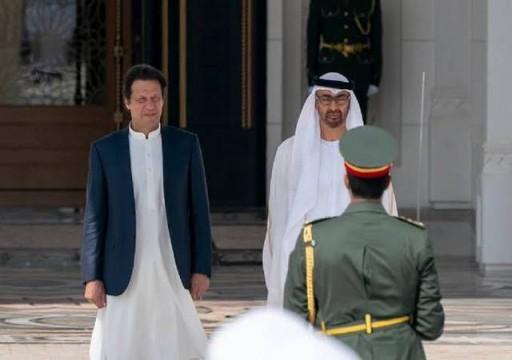 محمد بن زايد يبحث هاتفياً مع رئيس وزراء باكستان علاقات التعاون