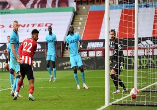 توتنهام يسقط بثلاثية أمام شيفيلد يونايتد في الدوري الإنجليزي