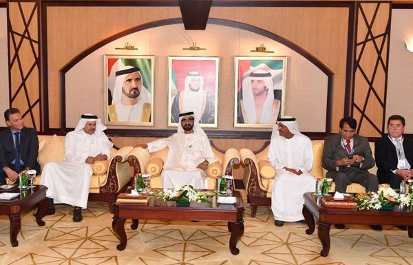 محمد بن راشد يستقبل وزراء النقل والمواصلات
