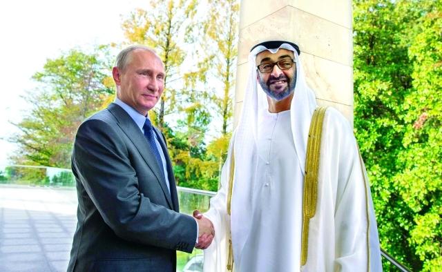محمد بن زايد يبحث مع بوتين تعزيز التعاون بين البلدين