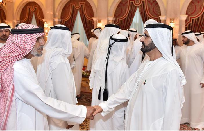 محمد بن راشد يستقبل أبناء القبائل للتهنئة بمناسبة شهر رمضان