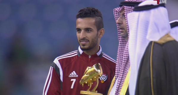 علي مبخوت يحصد جائزة هداف بطولة خليجي22