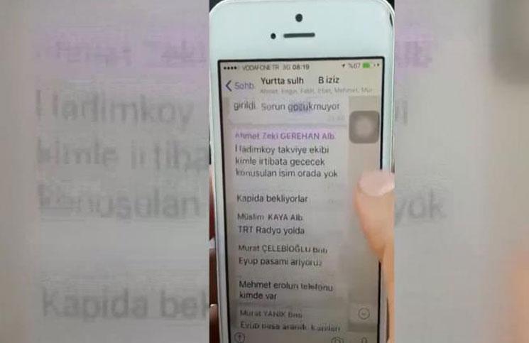 """انقلابيو تركيا تواصلوا من خلال مجموعة على تطبيق """"واتس آب"""""""